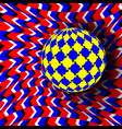 optical 3d art rotation dynamic optical effect vector image vector image