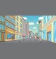 people walking down pedestrian city street vector image