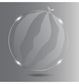Realistic glass watermelon vector image vector image
