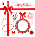 red elements christmas vector image vector image
