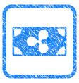 ripple banknote framed stamp vector image vector image