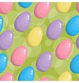 Seamless easter egg background vector image