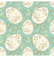 seamless easter pattern in pastel soft colors vector image