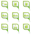 Set of 9 Transport GREEN pointer vector image