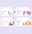 set of landing page templates business investment vector image