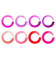 set of watercolor color circles texture ink round vector image