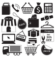 Shopping Icons Collection vector image vector image