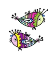 Sketch of funny fishes for your design vector image vector image