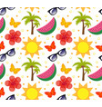 summertime seamless pattern bright summer vector image vector image