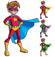 super boy isolated vector image