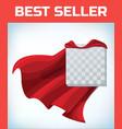 super hero cape red cloak hero clothes vector image vector image