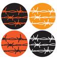 symbol barbed wire vector image vector image