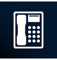 Telephone icon phone ip business concept vector image vector image