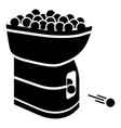 tennis ball machine icon simple black style vector image vector image