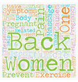 The Aches and Pains of Pregnancy and Back Pain vector image vector image