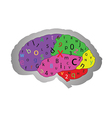 The concept of the functioning of the brain vector image vector image