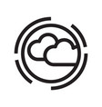 thin line cloudy icon vector image vector image
