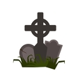 Tomb icon flat vector image vector image