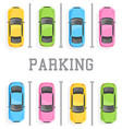 top view of a car parking vector image vector image
