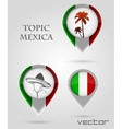 Topic mexica Map Marker vector image vector image