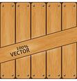 Vintage wood background vector image vector image