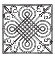 wrought-iron square panel is a german renaissance vector image vector image
