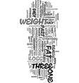 your three step fat attack part one of three text vector image vector image