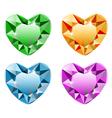 Diamond heart set vector image