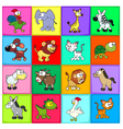Group of funny animals vector image