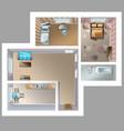top view detaleted interior vector image