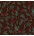 leaves needlework cherry vector image