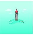 Cartoon fairy tale castle outline vector image