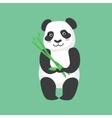Cute Panda Character Holding Bamboo Sticks vector image