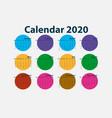 2020 calendar templatecalendar set of 12 vector image