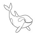 a cute Cartoon killer whale vector image