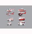 ambulance set vector image