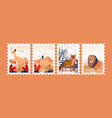 animal for postage stamps vector image vector image