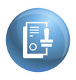 approved stamp icon simple style vector image vector image