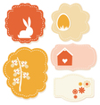Beautiful easter colorful tags isolated on white vector image