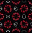 black bohemian retro floral pattern vector image vector image