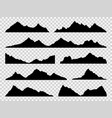 black mountains silhouettes ranges skyline high vector image
