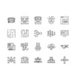 blockchain line icons signs set outline vector image vector image