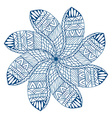 blue paisley mandala vector image