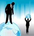 businessman with planet vector image