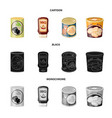 can and food logo set of vector image vector image