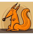 Cartoon of red squirrel vector image vector image