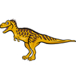 cartoon of tarbosaurus dinosaur vector image