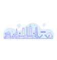 chicago skyline usa city buildings linear vector image vector image