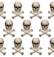 Colored skulls background vector image