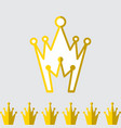 crown icon set isolated vector image vector image